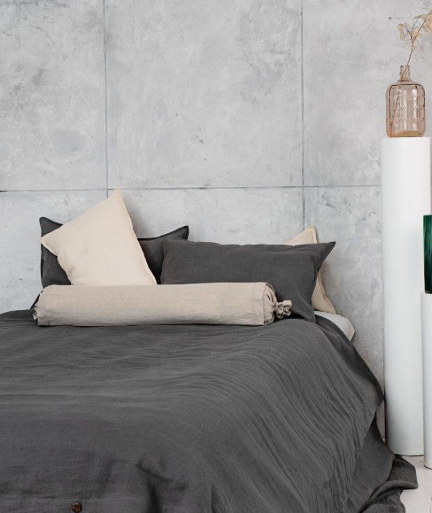 Linen Bolster Pillow Cover