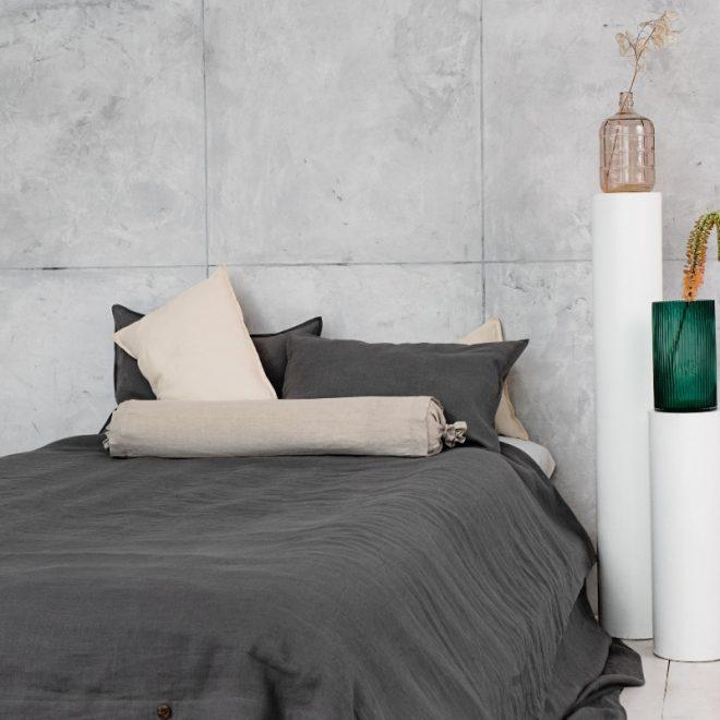 sitas Linen Bolster Pillow Cover