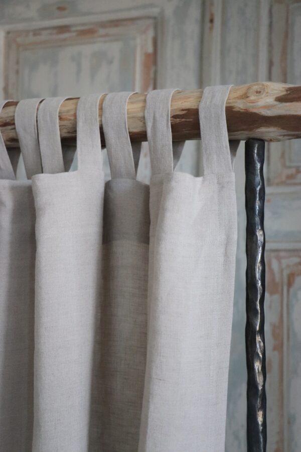 Tab Top Linen Curtain Panel