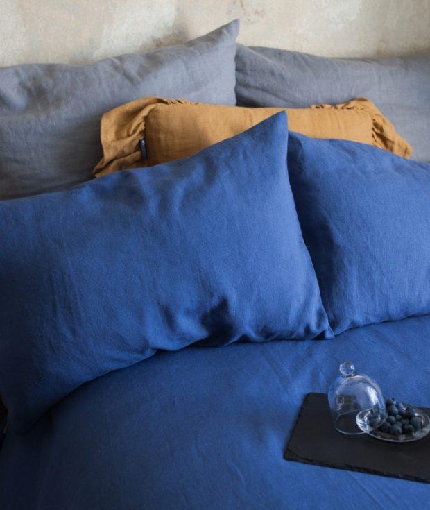 Blue pillowcases