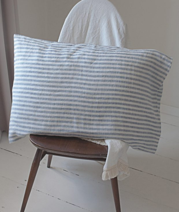 Striped Linen Pillow Cover