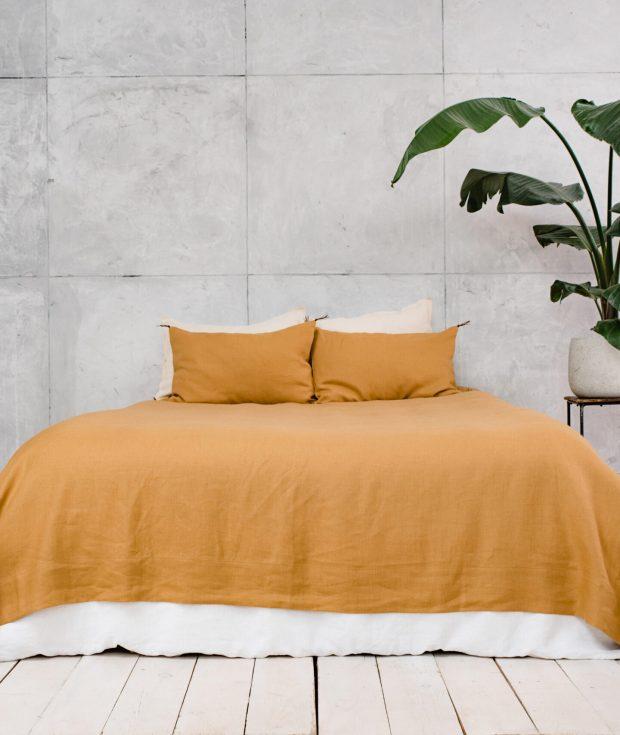 Mustard Bedspread