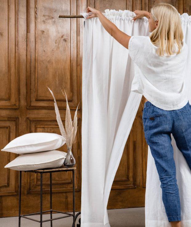 Custom Size Linen Drapes