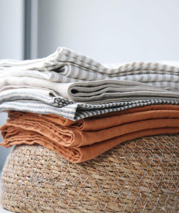 Natural Linen Napkins Bulk