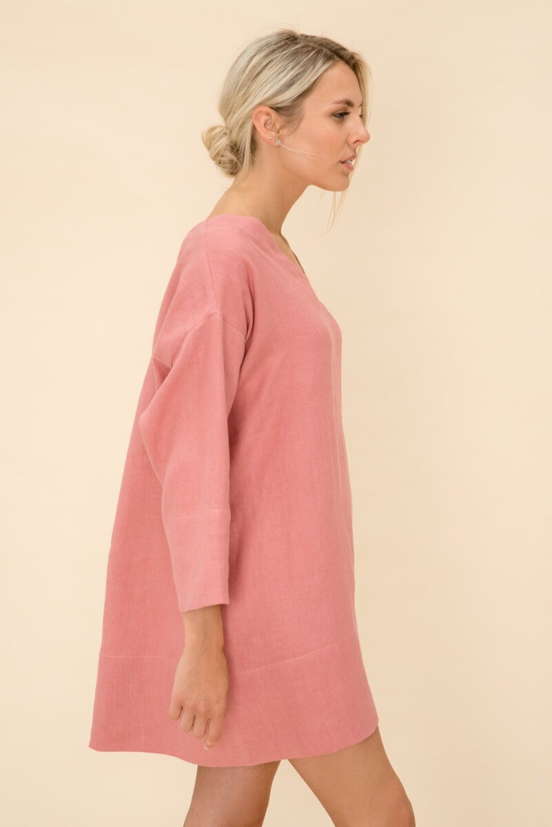 Loose Fit Linen Dress