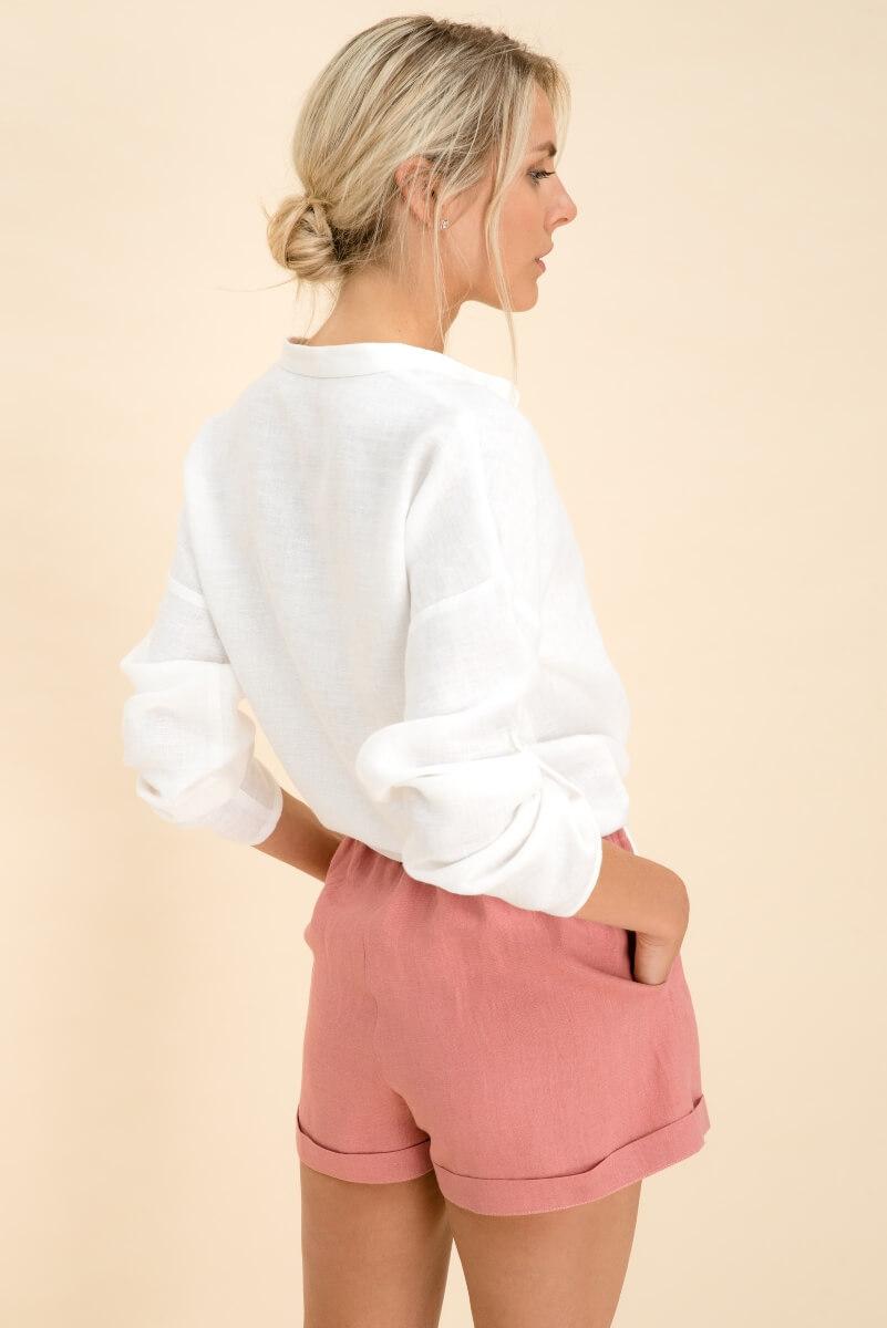 Linen Collar Shirt