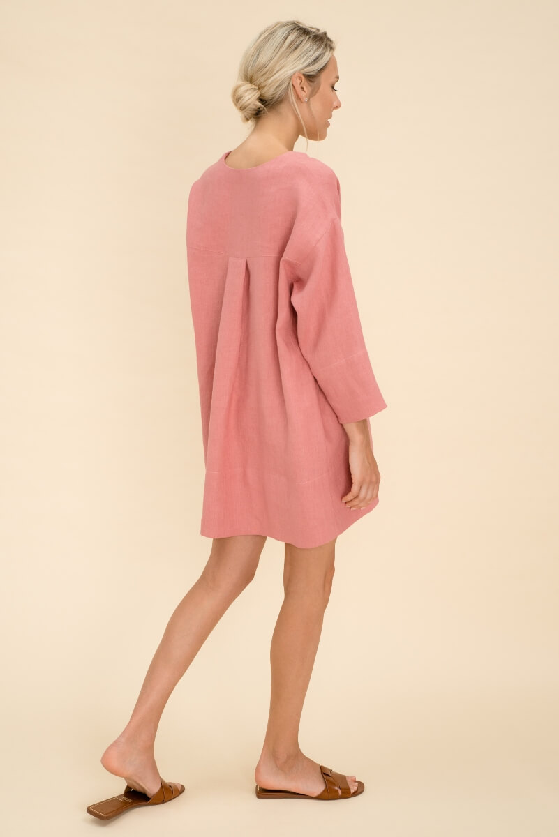 Loose Linen Dress with long sleeves