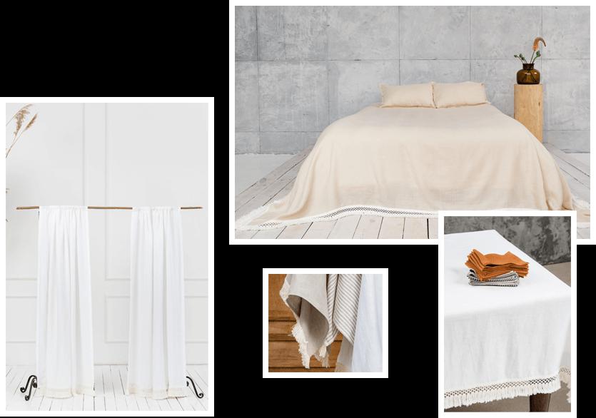 Macrame Linen Bedding Textiles